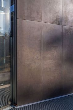 Steel cladding / bronze / panel - BOWDOIN ART CENTER - A. Zahner