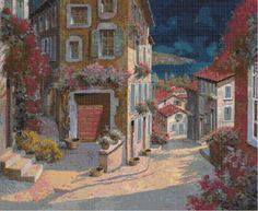 Professione Donna: Schema per il punto croce: Paesaggio_61