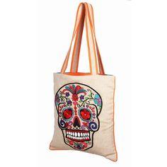 Sugar Skull Bag Natural tan, karma living, women's bags