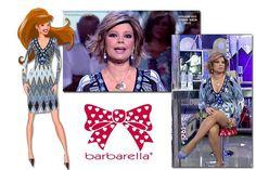 Terelu Campos con el vestido Harper corto en color azul