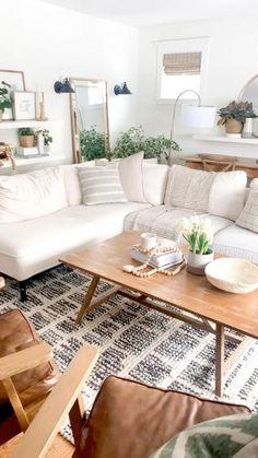 Boho Living Room, Small Space Living Room, Room Decor Bedroom, Interior Design Living Room, Living Room Designs, White Living Rooms, Furniture For Small Spaces, Bohemian Living, Furniture For Living Room