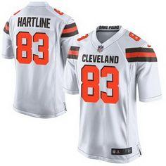 Nike Cleveland Browns #83 Brian Hartline 2015 White Elite Jersey