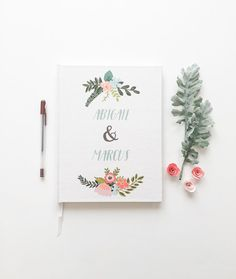Wedding Guest Book. Custom Guest Book. Wdding Guestbook. Wedding memory book. Photo Booth Wedding Book. Wedding Notebook.