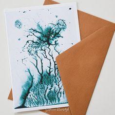 Geïllustreerde watercolor art card met envelop door SuzanneKruisdijk