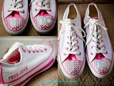 Bride blinged out her sneakers.  I do sparkles on Tennis shoes.  www.somethingbluephotography.net