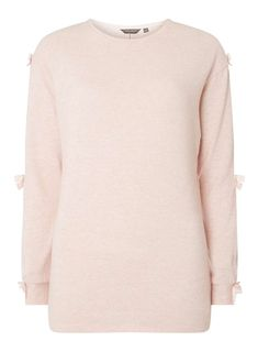 **Tall Pink Brushed Bow Sleeve Jumper - Dorothy Perkins