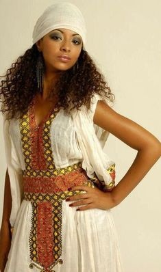 Ethiopian National Dress~Latest African Fashion, African Prints, African fashion styles, African clothing, Nigerian style, Ghanaian fashion, African women dresses, African Bags, African shoes, Nigerian fashion, Ankara, Kitenge, Aso okè, Kenté, brocade. ~DK