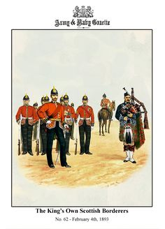 The King's Own Scottish Borderes Military Uniforms, Military Art, Military History, British Army Uniform, British Uniforms, Red Coats, Army & Navy, Edwardian Era, British History