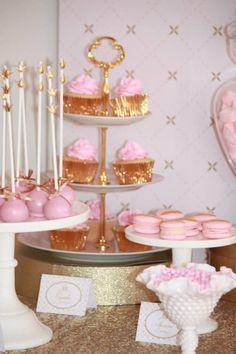 Pink and Gold Princess Party So Many Really Cute Ideas via Kara's Party Ideas KarasPartyIdeas.com #RoyalPrincess #Party #Ideas #Supplies (32)