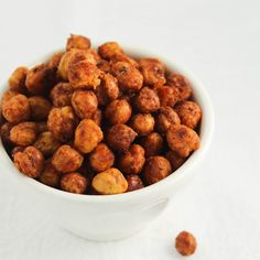 Crunchy Roasted Chickpeas Recipe with chickpeas, olive oil, smoked paprika, salt, garlic powder