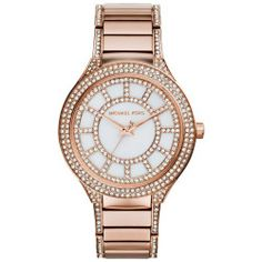 Ladies' Michael Kors Kerry Crystal Rose Gold-Tone Watch MK3313