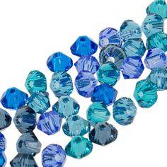 5328 3mm Swarovski Elements Crystal Mix - Mediterranean | Fusion Beads