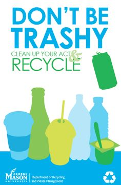 Clean Up Your Act Recycle Campaign by Samantha Beach, via Behance – Modern Environmental Posters, Beach Clean Up, Classroom Charts, Save Environment, Teaching Posters, Plakat Design, Save Our Earth, Campaign Posters, Beach Posters