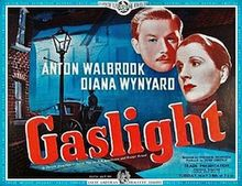 Gaslight (1940).British. Dir: Thorold Dickinson. Stars: Anton Walbrook and Diana Wynyard, and features Frank Pettingell. Bella (Diana Wynyard) soon finds herself misplacing small objects; and, before long, Paul (Anton Walbrook) has her believing she is losing her sanity. This film adheres more closely to the original play (Patrick Hamilton's Gas Light -1938) than the better-known 1944 MGM adaptation.