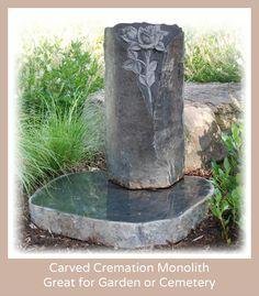 Garten Vase  Flowerpot Granite Swedish Black Grave Dekoration