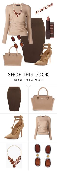 """EVE"" by evelina-er ❤ liked on Polyvore featuring WearAll, Michael Kors, Sam Edelman, Derek Lam, Kendra Scott, Miadora and Burt's Bees"