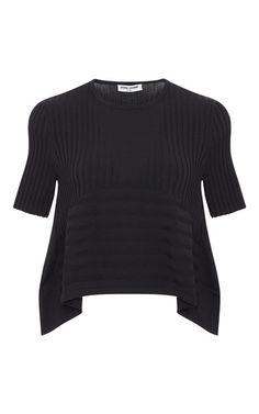 Black Linear Transfer Top by Opening Ceremony
