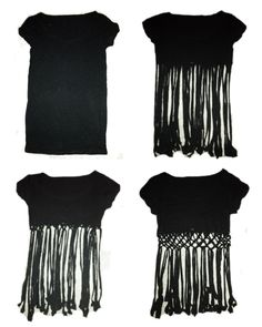 Coco 的美術館: DIY T- Shirt Redesign Ideas (part 3)-- DIY T- Shirt Redesign : Weaving/ Pin