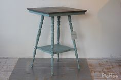 Antique Spool Leg Table BEFORE & AFTER! #beach #cottage #table