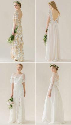 Bohemian Wedding Gowns by Rue de Seine bridal
