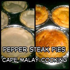 Pie/cape malay recipe Eid Ideas, Malay Food, Savoury Pies, Pepper Steak, Ramadan Recipes, South African Recipes, Afrikaans, Dessert Recipes, Desserts