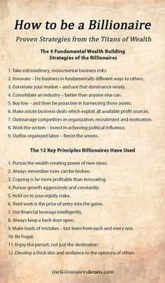 21 Power Strategies & Mindsets Used by Billionaires to Create Massive Wealth