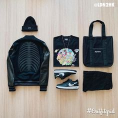 Outfitgrid started as a way of bringing the community together to showcase style. Dope Outfits For Guys, Swag Outfits Men, Cool Outfits, Casual Outfits, Men's Outfits, Black Outfits, Fashion Outfits, Dope Fashion, Mens Fashion