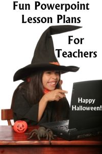You can find fun powerpoint lesson plans and presentation with Halloween themes on this page:  www.uniqueteachingresources.com/Halloween-powerpoint-lesson-plans.html