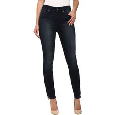 Paige Hoxton Ankle Zip in Clark (Clark) Women's Jeans (470 ILS) ❤ liked on Polyvore featuring jeans, black, high-waisted skinny jeans, high waisted stretch jeans, high-waisted jeans, slim fit skinny jeans and stretch skinny jeans