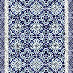 8x8 Quarter Barletta Terra Nova Hand Painted Floor Tile