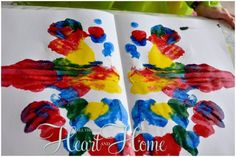 Symmetry Art Project for Kids! - All Things Heart and Home cc cycle 2 week 2