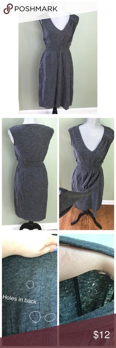 Anthro Cordial Embrace Dress Gray dress by Sparrow. 100% wool, some picking / pilling throughout Dress since it's wool. Dress has some small holes in back!! This can be solved by wearing a cardigan over the dress. Anthropologie Dresses Mini