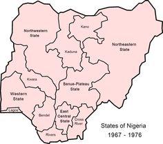 Map showing Biafra and Nigeria | Yahaya | Pinterest | Civil wars