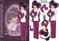 Lady in Burgundy Fashion Reflections Decoupage