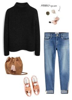 fashion by yuu0411 on Polyvore featuring ファッション, Mulberry, Frame, Acne Studios and UGG