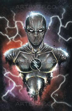 The Flash super villain Zoom Bust Painting Poster Print