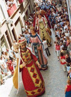 Fiesta de los gigantes en Solsona. El Solsonès. Catalonia