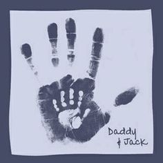 Daddy and me handprints.