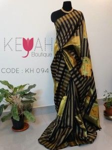 Timeless charm of a pure Kanchivaram silk saree perfect for the wedding season For Details, kindly mail to keyahboutique@gmail.com