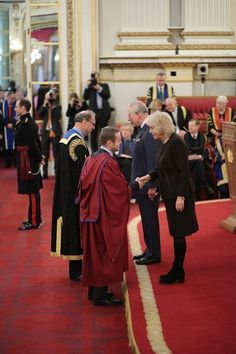 22 February 2018 Prince Charles, The Prince of Wales, and Camilla, The Duchess of Cornwall, presented The Queen's Anniversary Prizes for Higher and Further Education for 2016-18 in a ceremony at Buckingham Palace.
