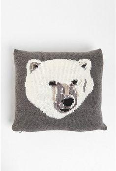 PJ by Peter Jensen Polar Bear Pillow