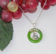 Wine bottle necklace with & charm wire by LifesongArtandPhoto, $12.00