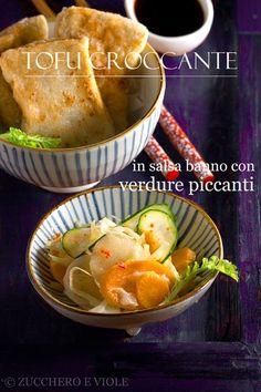 Tofu croccante con verdure piccanti