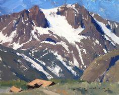"""Spring Snow on Carson Peak; June Lake, CA"", Oil on Linen panel, 8"" x 10"", By Jeremy Lipking"