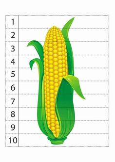 Puzzles about Numbers and Vegetables - Preschool Children Akctivitiys Counting Puzzles, Number Puzzles, Maths Puzzles, Printable Puzzles, Printable Numbers, Diy Busy Books, Corn Plant, Numbers Preschool, Yoga For Kids