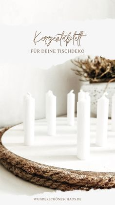 Diy Upcycling, Advent, Place Cards, Place Card Holders, Candles, Group, Cottage Chic, Christmas Time, Dekoration