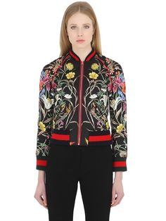 GUCCI - BLOOMING PRINT QUILTED TWILL JACKET - LUISAVIAROMA - LUXURY SHOPPING WORLDWIDE SHIPPING - FLORENCE