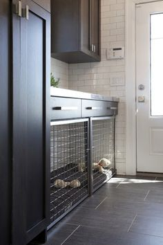Stylish Built-In Sleeping Areas for Dogs- Side Entrance with Built in Dog Bed and Crate - by Hierarchy Architecture + Design, PLLC houzz.com