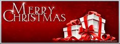 Facebook Timeline Covers | Merry Christmas Gift with Red Ribbon Facebook Holiday Cover Photos