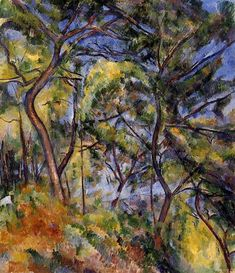 Forest, 1894 by Paul Cezanne, Final period. Cubism. landscape. Los Angeles County Museum of Art, Los Angeles, CA, USA